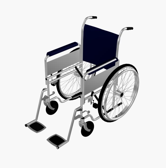 674x682 Wheelchair 3d Max Block
