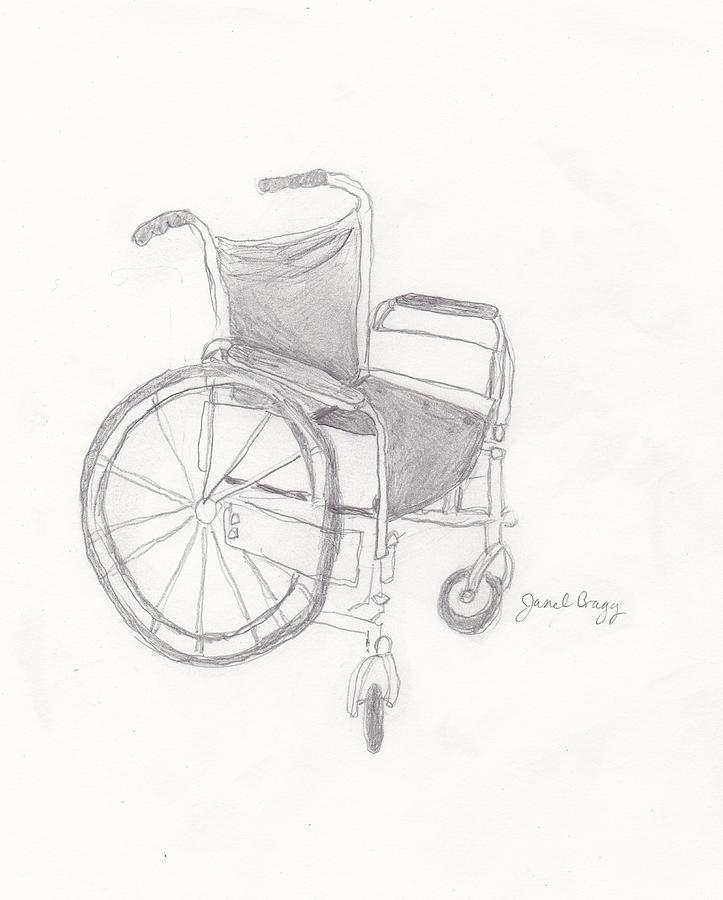 723x900 Wheelchair Sketch Drawing By Janel Bragg