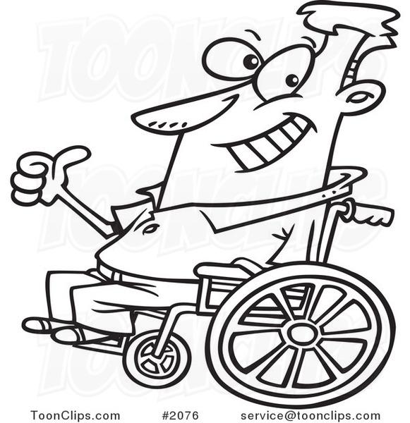 581x600 Cartoon Blacknd White Line Drawing Ofn Optimistic Guy In