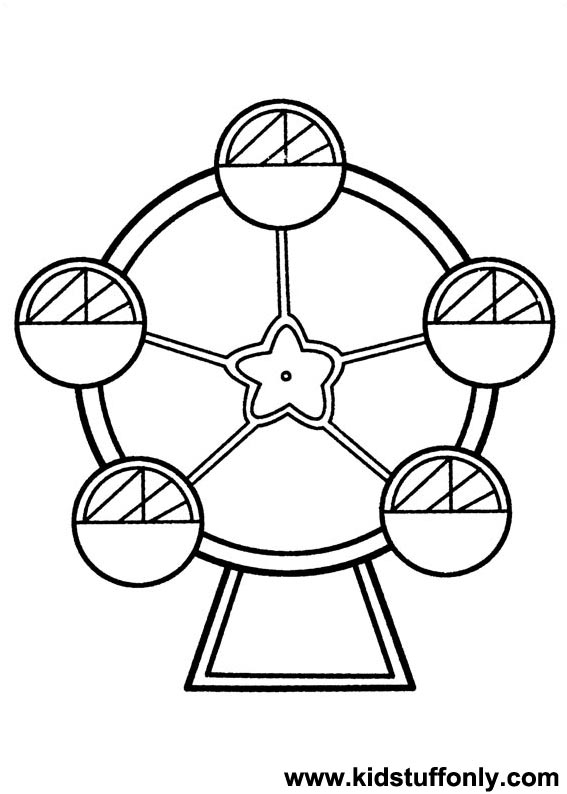 567x794 Ferris Wheel Coloring Pages