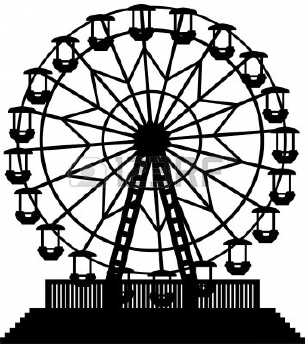 1062x1200 Ferris Wheel Clipart Wheels And 2 Cut It Out