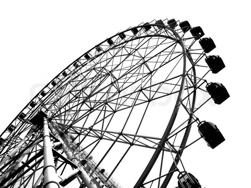 800x600 Outline Of A Large Ferris Wheel Stock Photo Colourbox