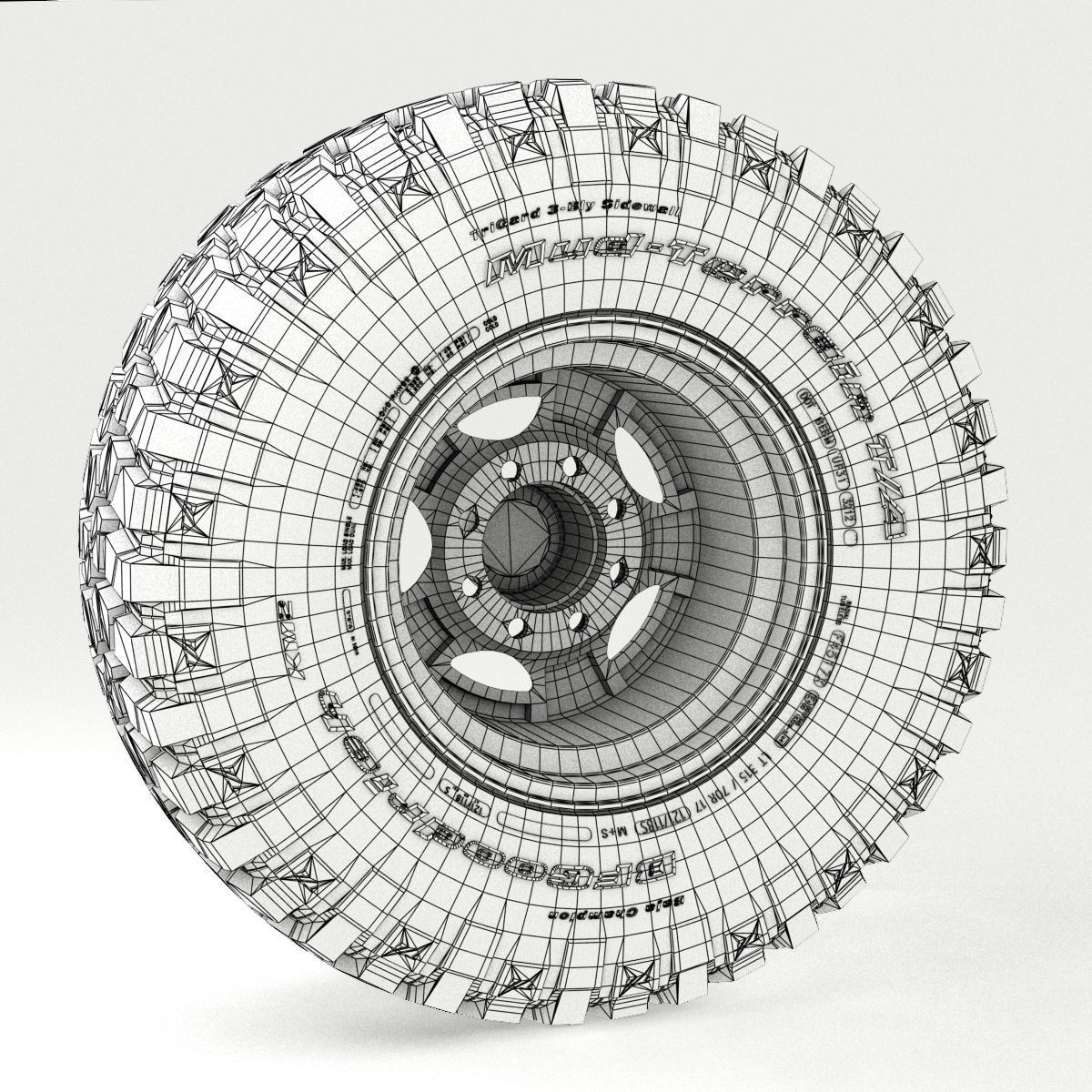1200x1200 3d Off Road Wheel And Tire 3 Beamng Cgtrader