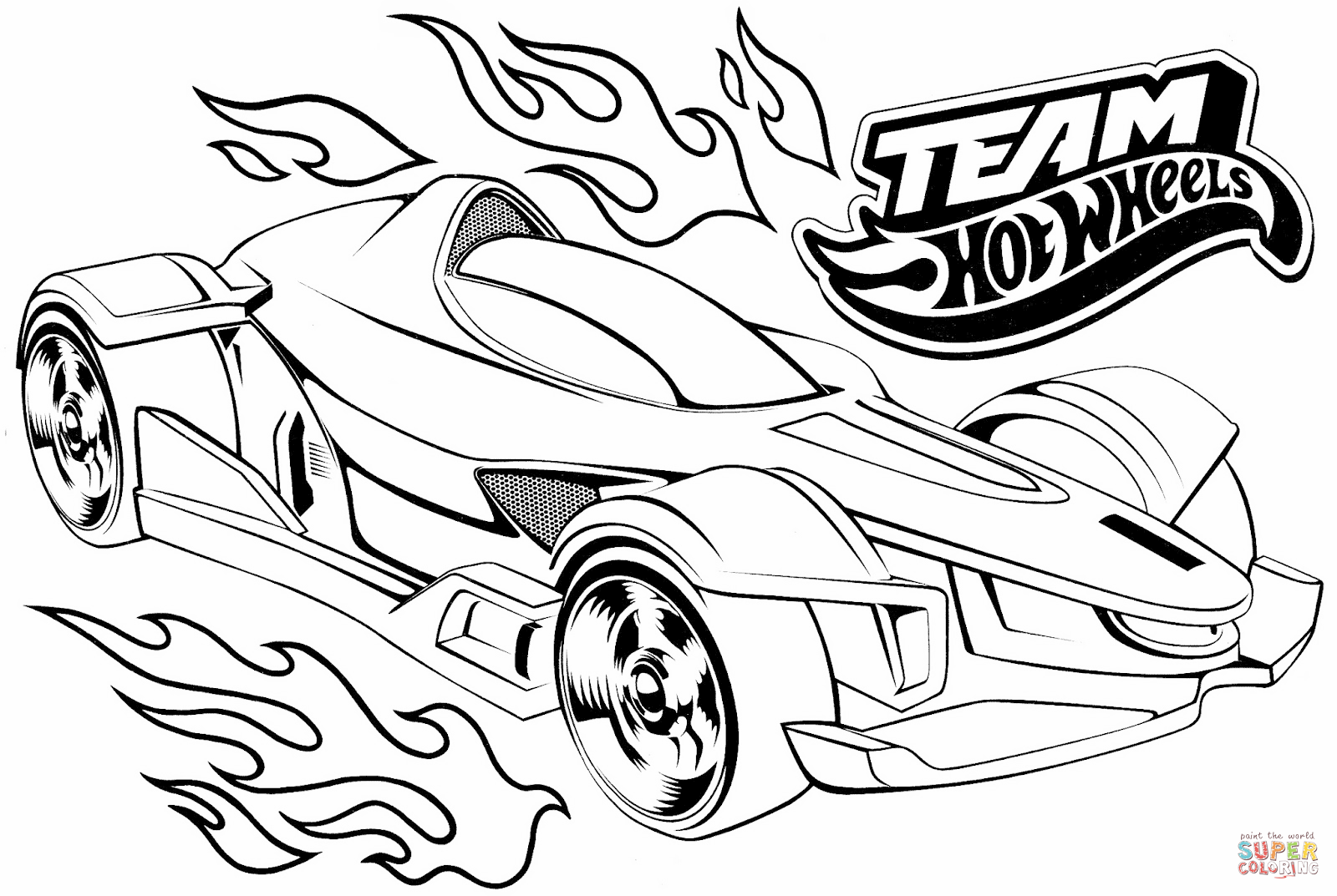 1600x1073 Team Hot Wheels Coloring Page Free Printable Coloring Pages
