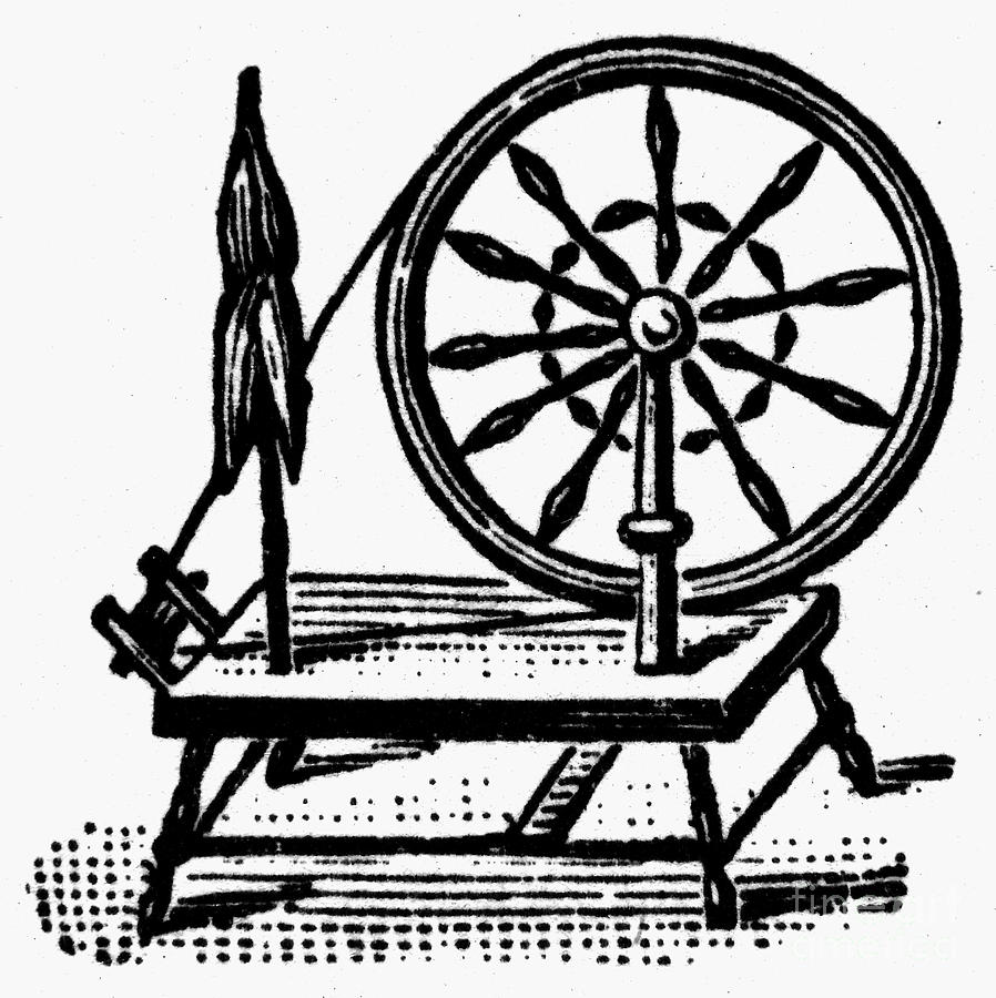 898x900 Textiles Spinning Wheel Photograph By Granger
