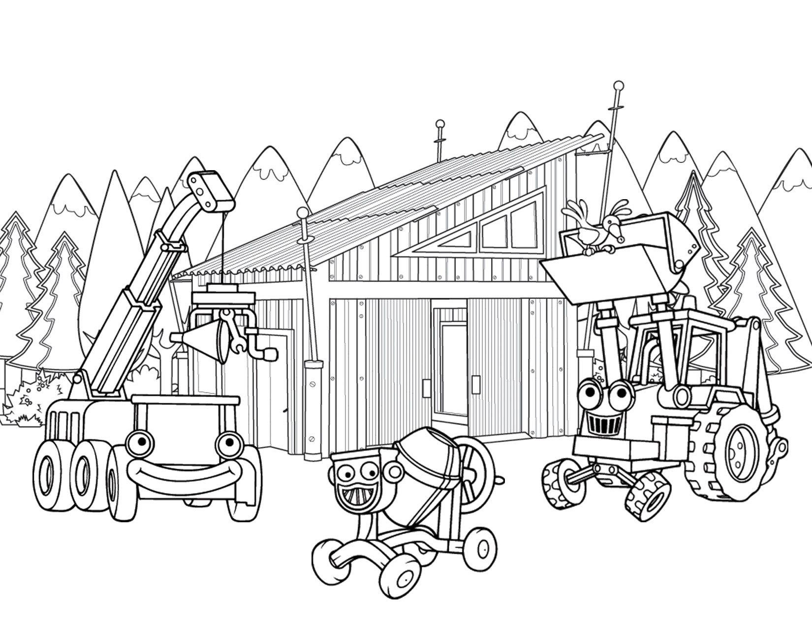 1650x1275 Heavy Construction Equipment Wheel Loader Coloring Page Letmecolor