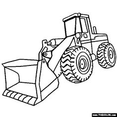 236x236 How To Draw Excavators In 11 Steps Color Sheets, Craft