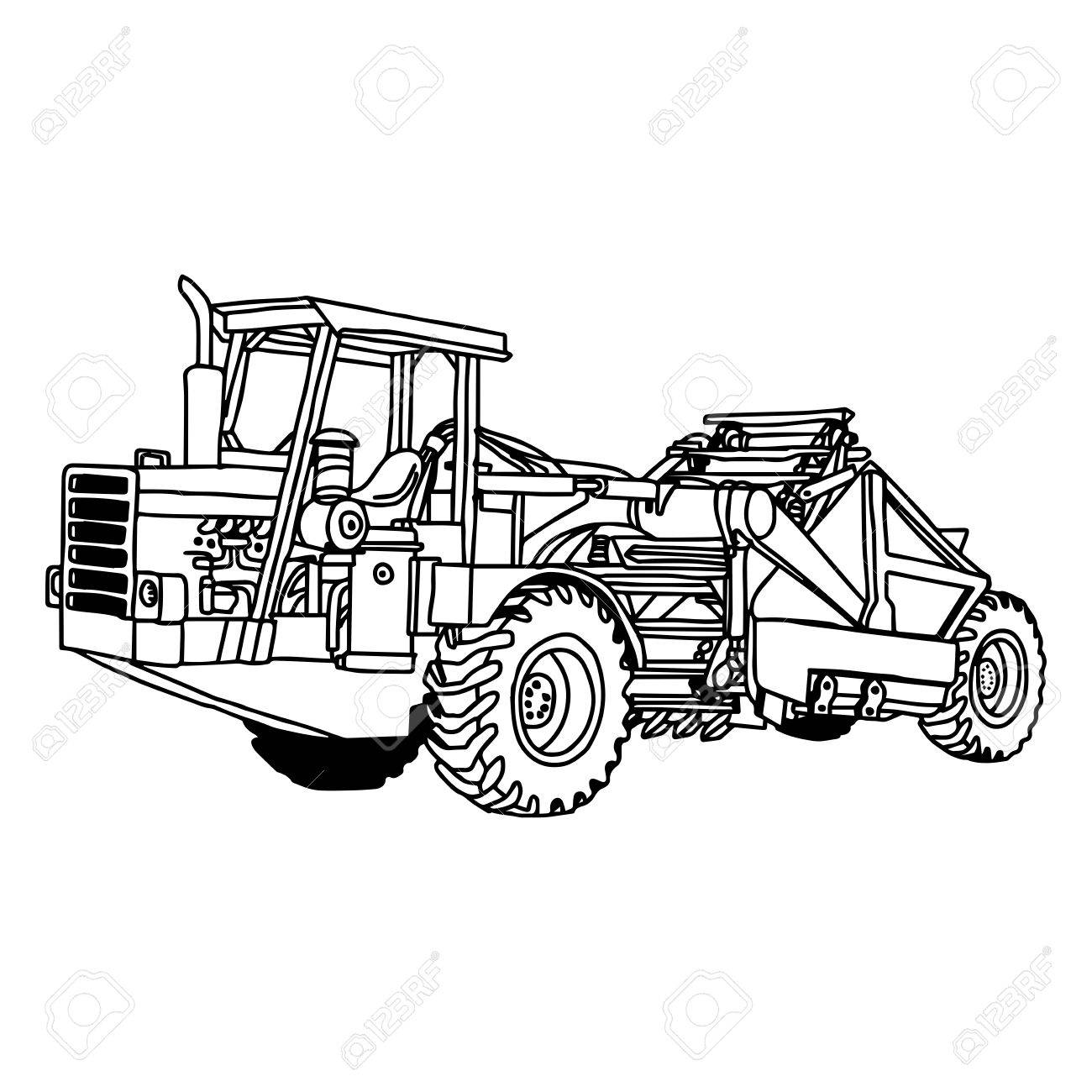 wheel loader drawing at getdrawings com