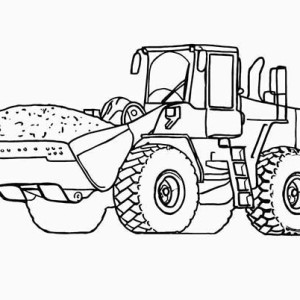 300x300 Backhoe Loader On Construction Work Coloring Page Backhoe Loader