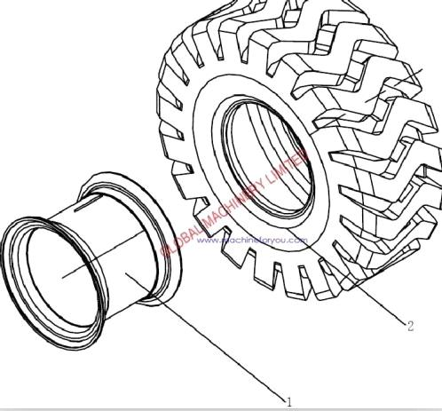 498x463 Sdlg Wheel Loader Lg953 Rim And Tyre Assembly Spare Parts