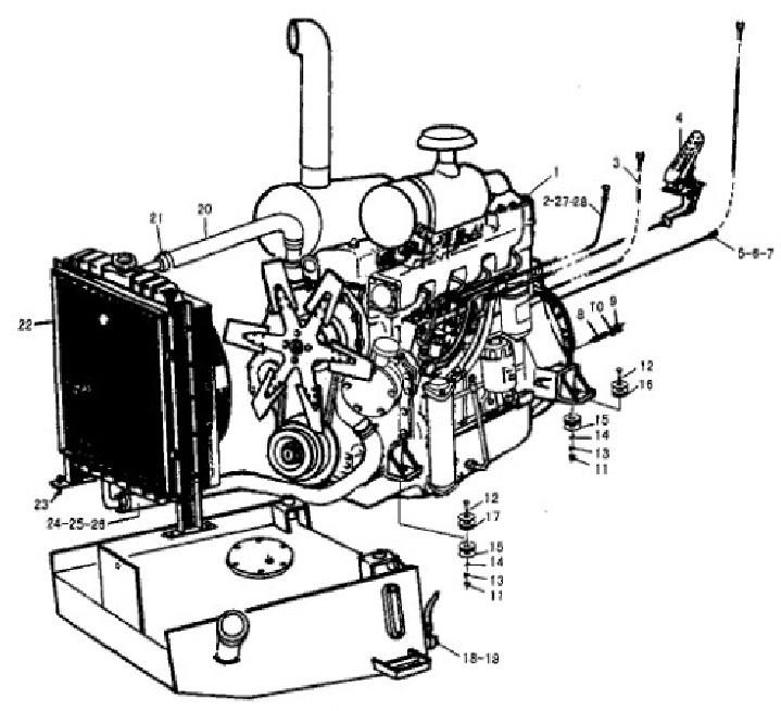 719x655 Sdlg Wheel Loader Lg933 Diesel Engine System Spare Parts