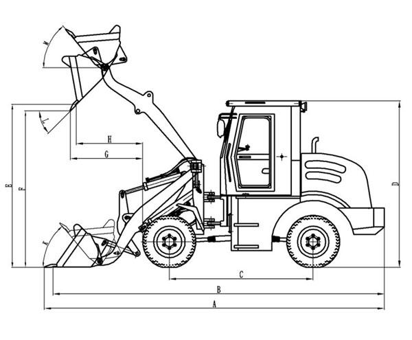 600x495 Wheel Loader Drawing Images