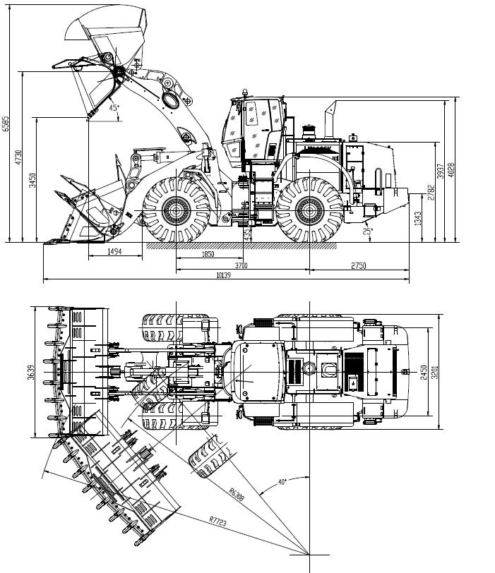 Wheel Loader Drawing At Getdrawings Com