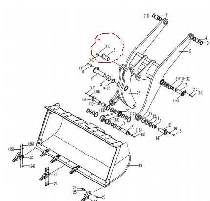 430x411 Needle Roller Bearing Sdlg Wheel Loader China (Mainland