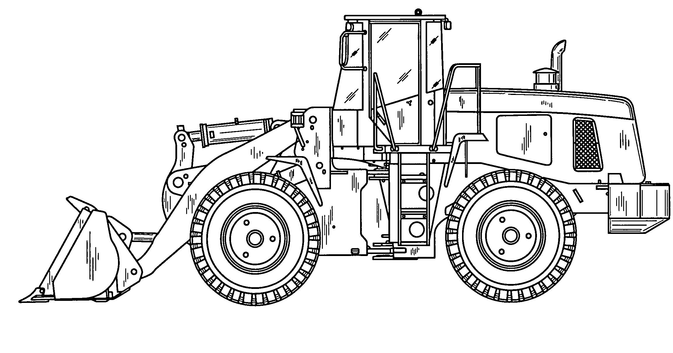 wheel loader drawing at getdrawings  free download