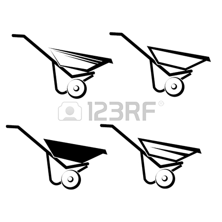 450x450 1,192 Job Wheelbarrow Cliparts, Stock Vector And Royalty Free Job