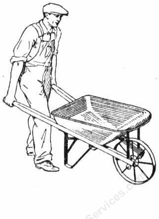 321x441 Man In Wheelbarrow Clipart