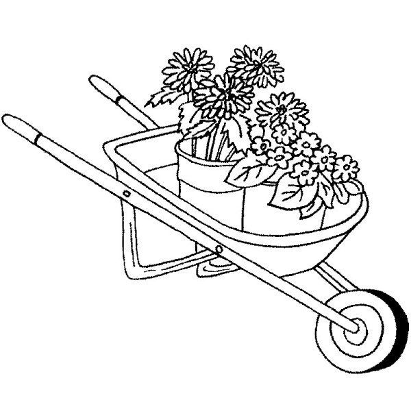 600x600 Purple Daisy Design G 879 Wheelbarrow With Flowers