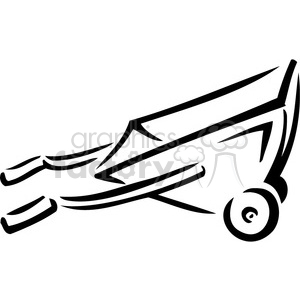 300x300 Royalty Free Black And White Wheelbarrow 384936 Vector Clip Art