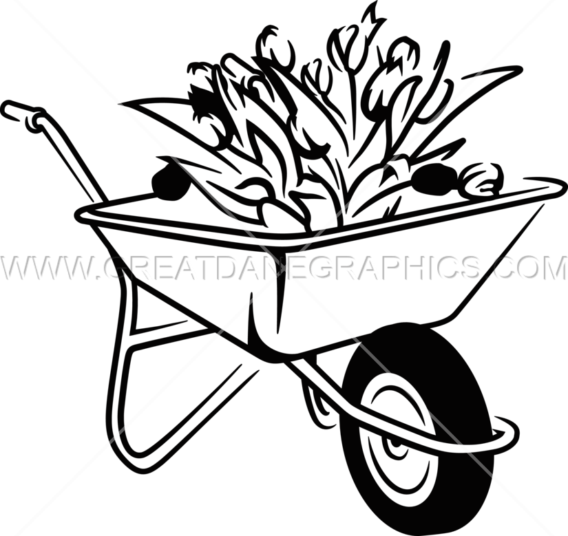 825x779 Wheelbarrow Production Ready Artwork For T Shirt Printing