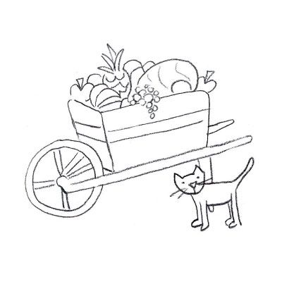 400x400 Wheelbarrow Digital Stamp