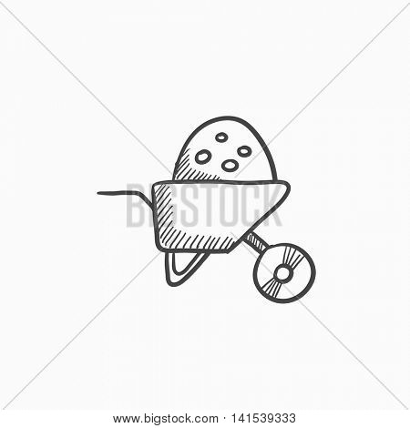 450x470 Wheelbarrow Full Sand Vector Vector Amp Photo Bigstock