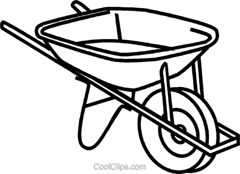 480x348 Wheelbarrow Royalty Free Vector Clip Art Illustration Vc041646