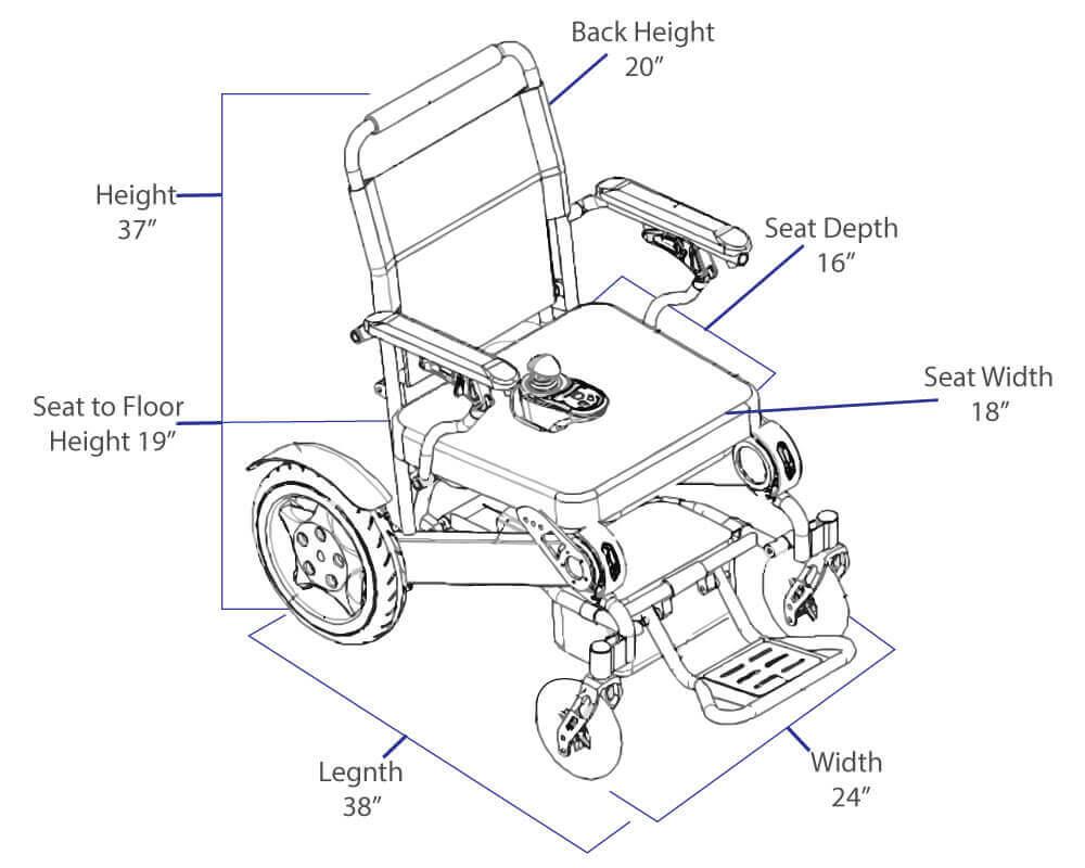 1000x800 Buy EasyFold Elite Model Battery Powered Wheelchair Free Shipping