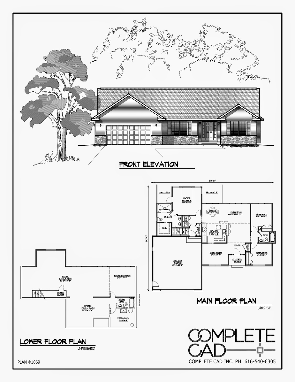 1236x1600 3 Bedroom Wheelchair Accessible House Plans