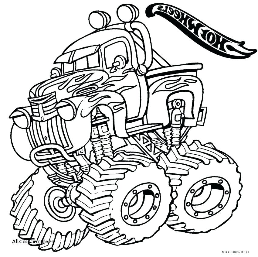 850x846 Monster Truck Coloring Picture Lovable Hot Wheels Monster Truck