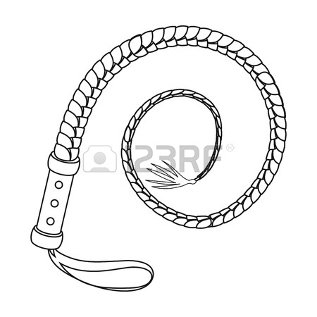 450x450 Whip Icon In Outline Style Isolated On White Background. Rodeo