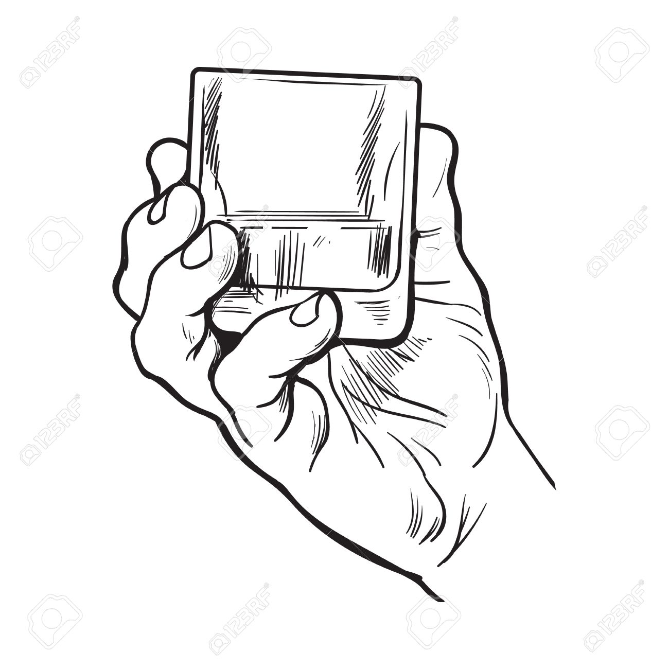 1300x1300 Hand Holding Full Glass Of Whiskey, Sketch Style Vector