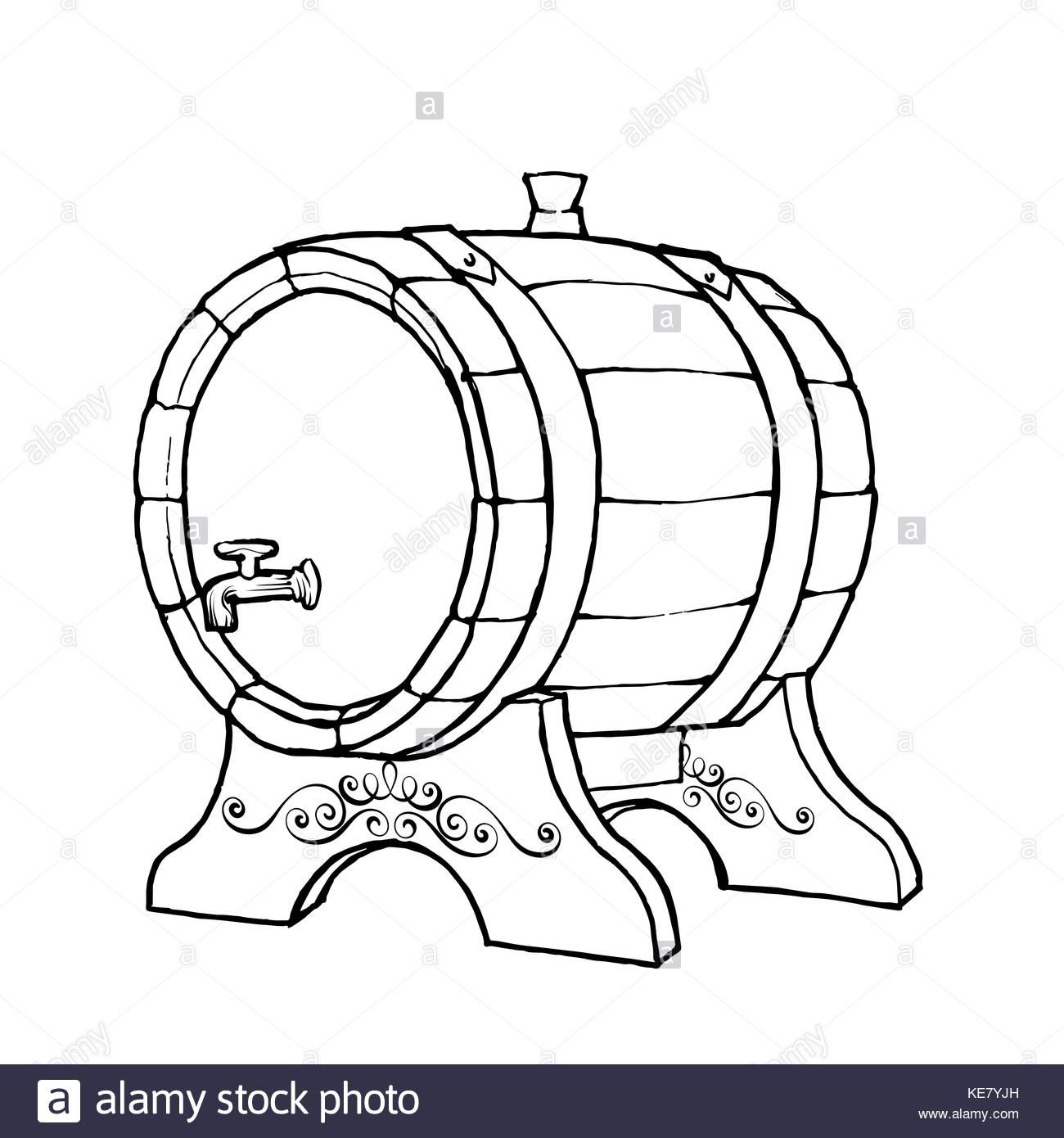 1300x1390 Whiskey Barrel Stock Vector Images