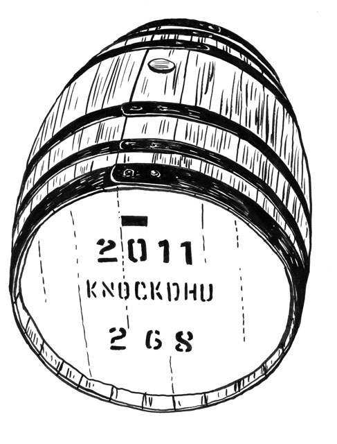 487x640 Ancnoc Drawings By Peter Arkle Ancnoc Cask Whisky Tasting