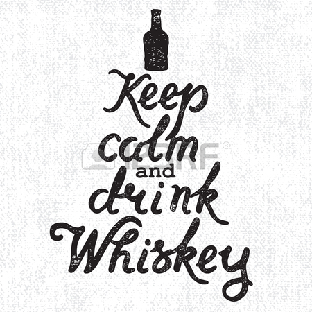 450x450 Whiskey Bottle And Handwritten Lettering Keep Calm And Drink