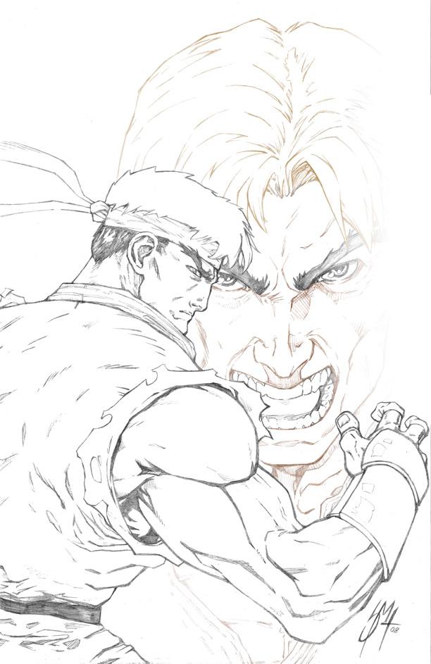 612x943 Street Fighter Ryu ken Pencils By Whispering Road