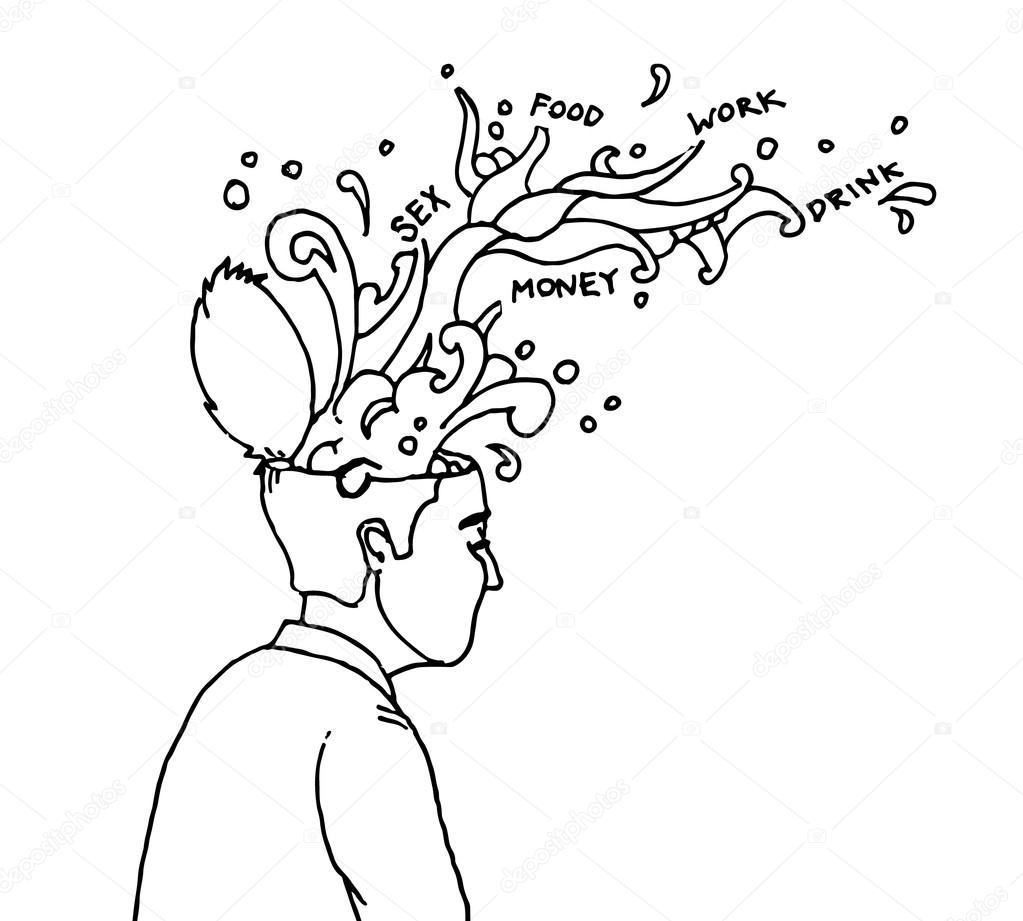 1023x921 Hidden Thoughts Flow Stock Vector