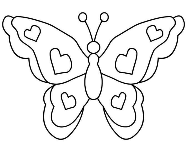 600x487 Black White Butterfly Clipart