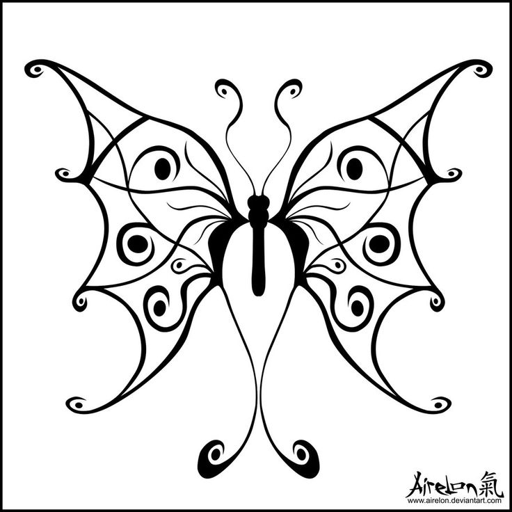 736x736 33 Best Black And White Butterfly Tattoo Art Images