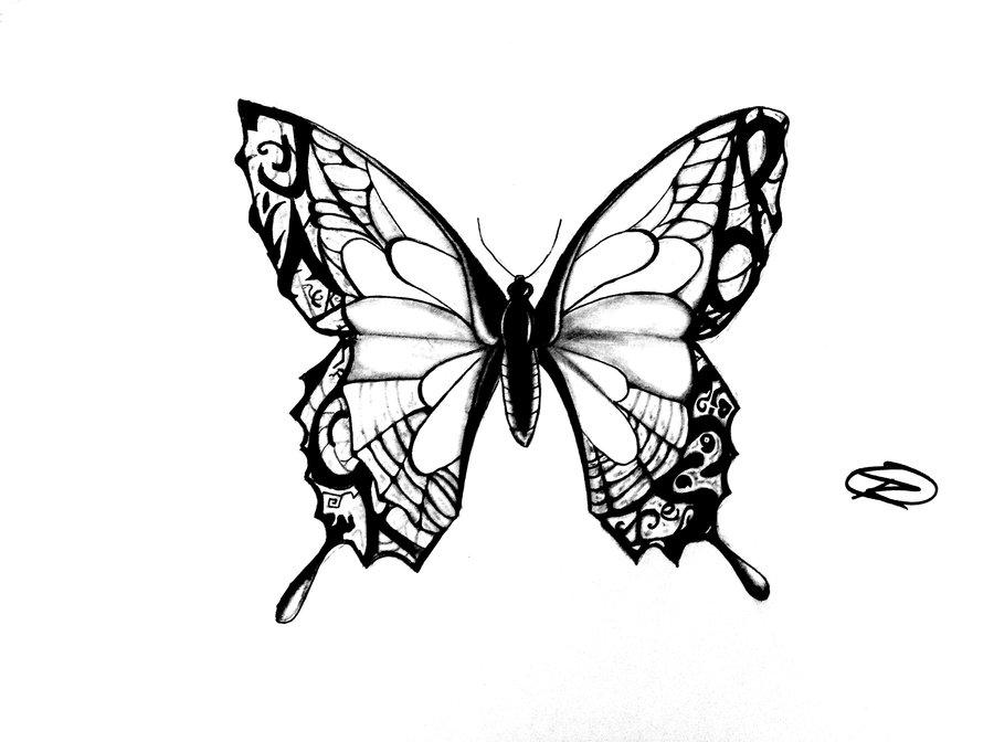 900x672 Butterfly Tattoo Design By Odrozz