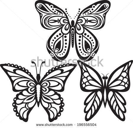 450x432 Easy Butterfly Drawings Black And White Images Journaling