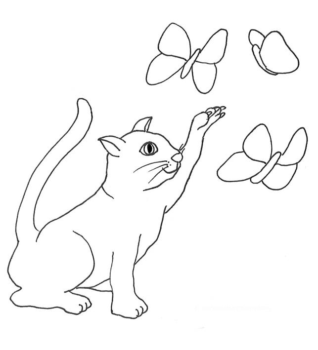 643x709 Cat Clip Art, Cat Sketches, Cat Drawings Amp Graphics