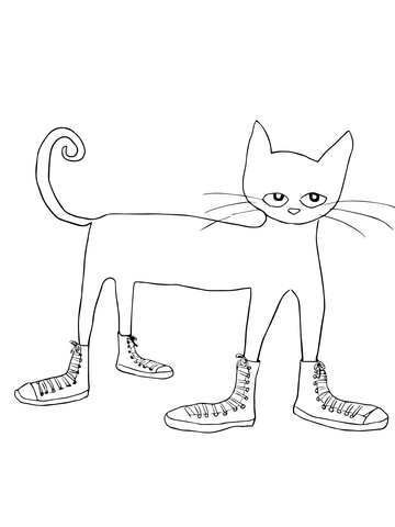 360x480 Pete The Cat I Love My White Shoes Coloring Page Free Printable