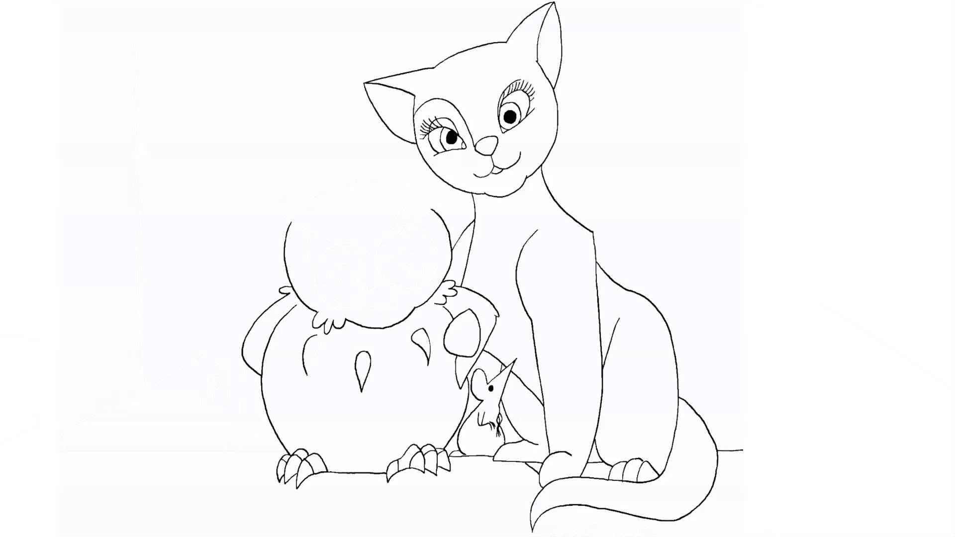 1920x1080 Drawing The Owl And Pussycat