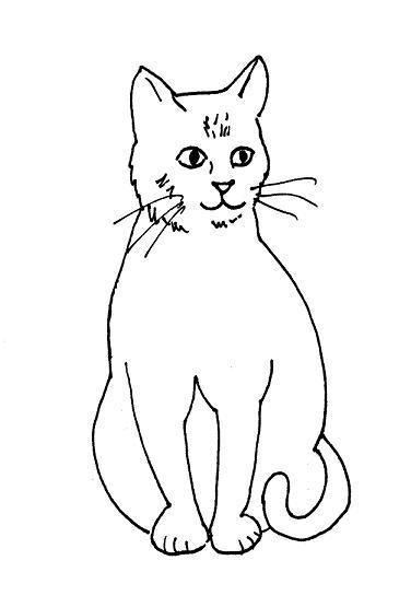 376x555 Cat Drawing ~ 3d Drawing