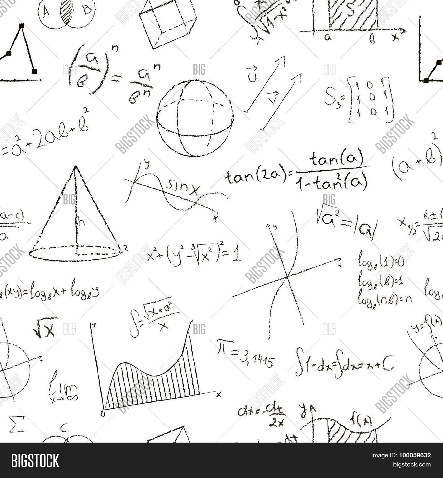 1500x1620 Chalk Drawing Effect. Math Vector Amp Photo Bigstock