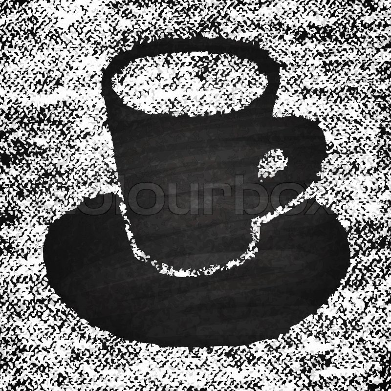 800x800 Chalk On Board. Cup Of Coffee. Vector Illustration. Stock Vector