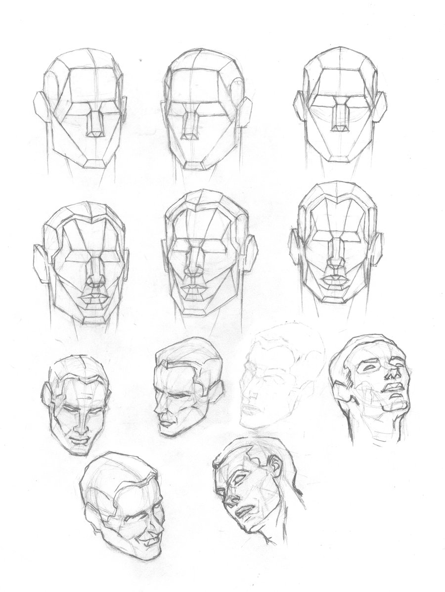 900x1197 Human Head Plates 2 By On @