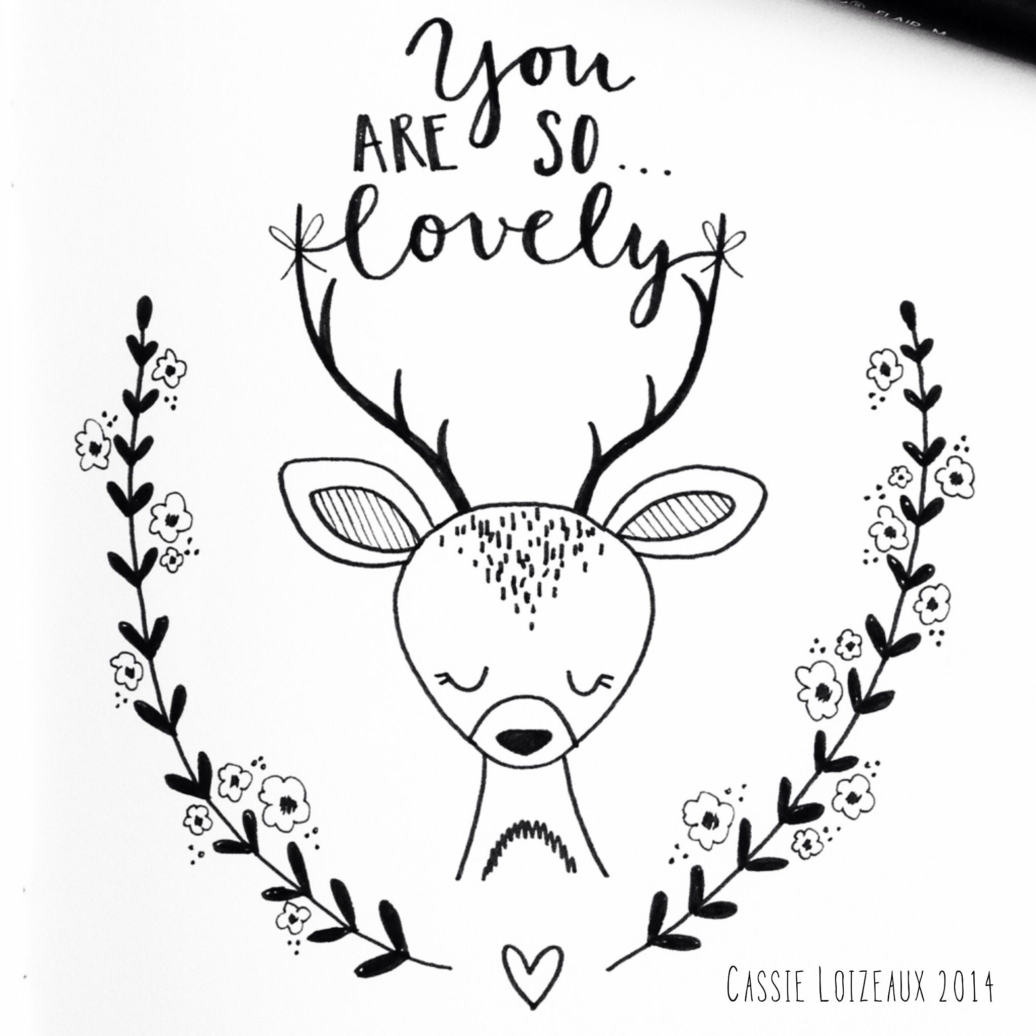 2048x2048 Lovely Deer. Day 33 Of Yearlong 30 Minute A Day Sketchbook Project
