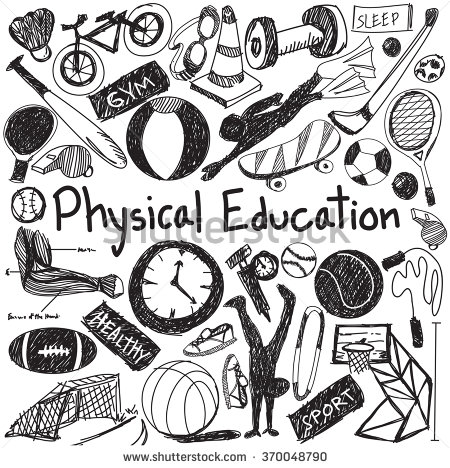 450x468 Physical Education Exercise And Gym Education Chalk Handwriting